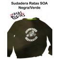 Sudadera Ratas SOA Negra/Verde